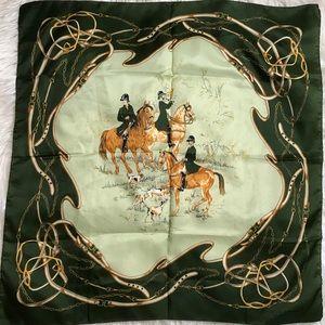 Vintage French square scarf Nicole de Beauvoir